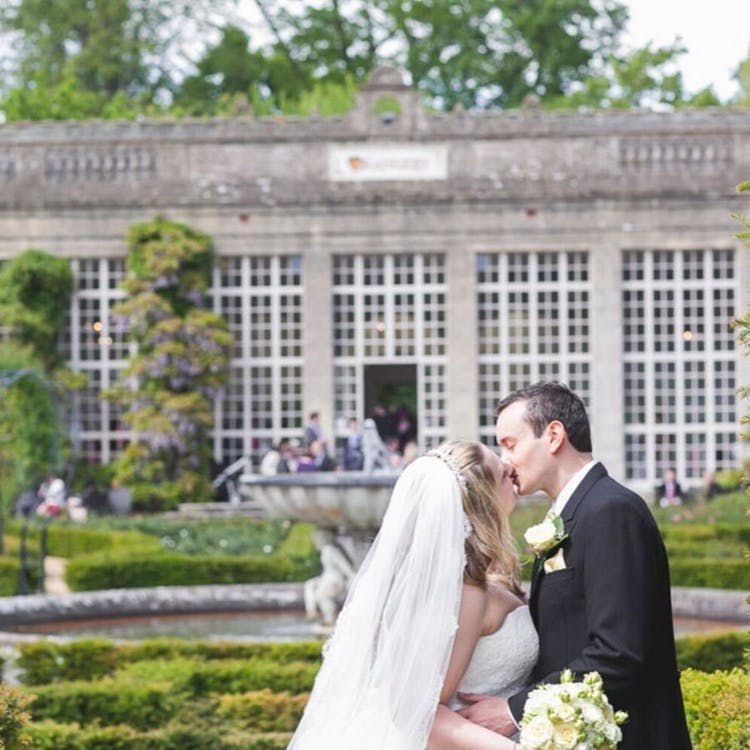 Beautiful photo opportunities in front of the Orangery
