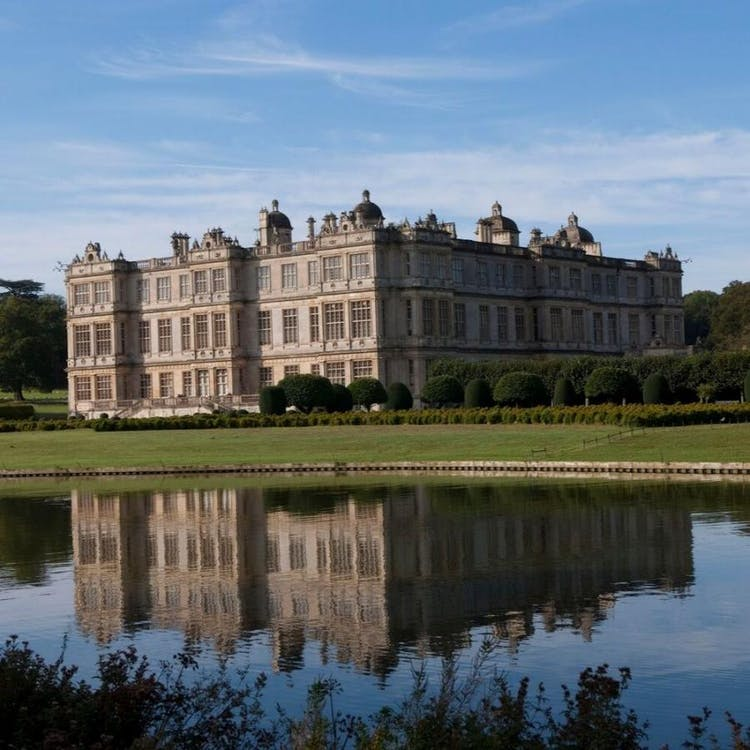 Longleat House from across the Half Mile Lake