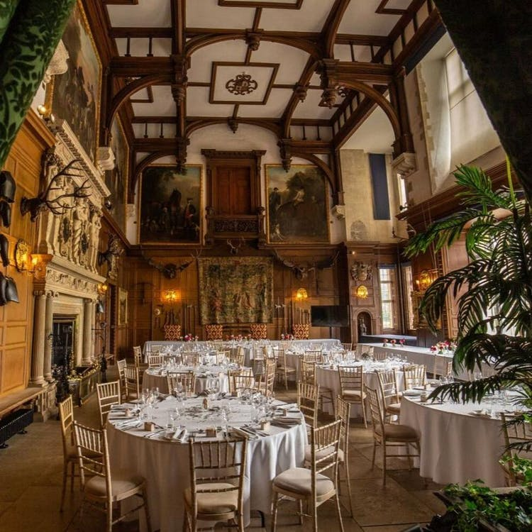 The Great Hall set for a ceremony