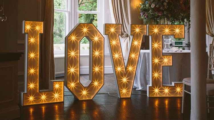 Crackin Candy Events - Marquee Love Letters