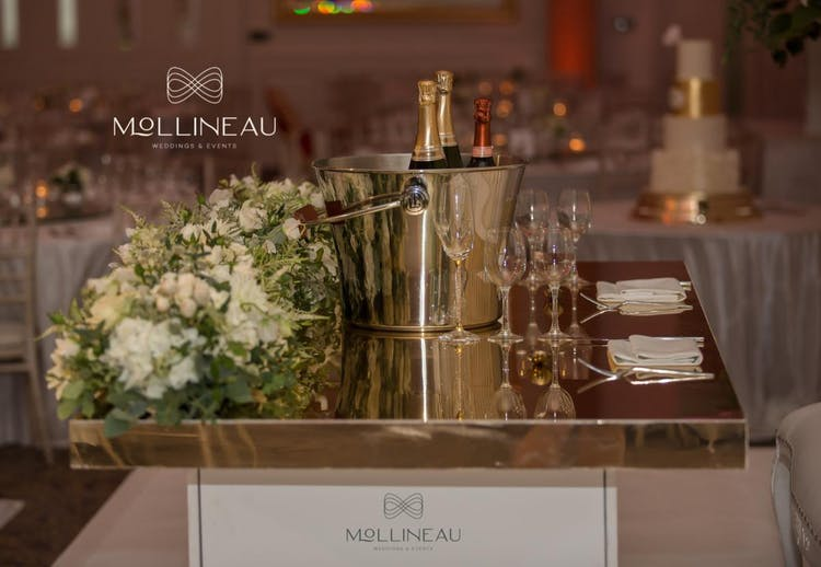 Champagne Themed Sweetheart Table