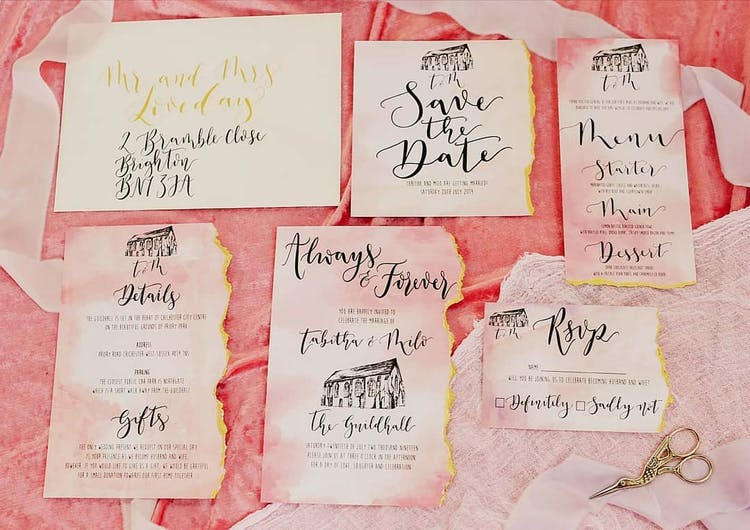 Guildhall Wedding stationery suite by The Amyverse
