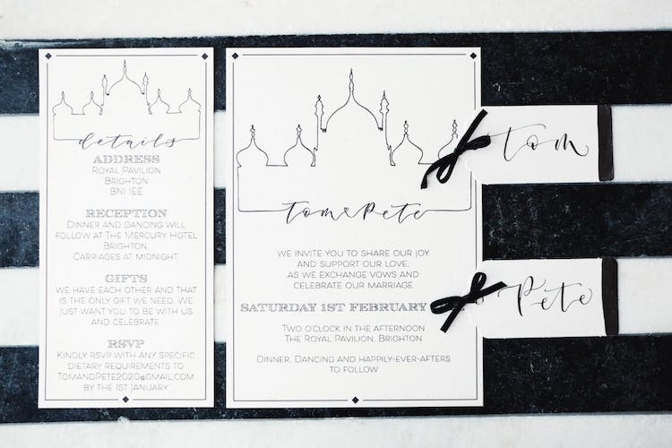 Royal Pavilion invitations by The Amyverse