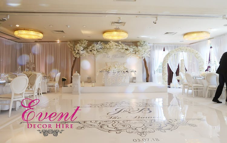 All White Wedding Decor with Fresh Floral and Luxury Furniture