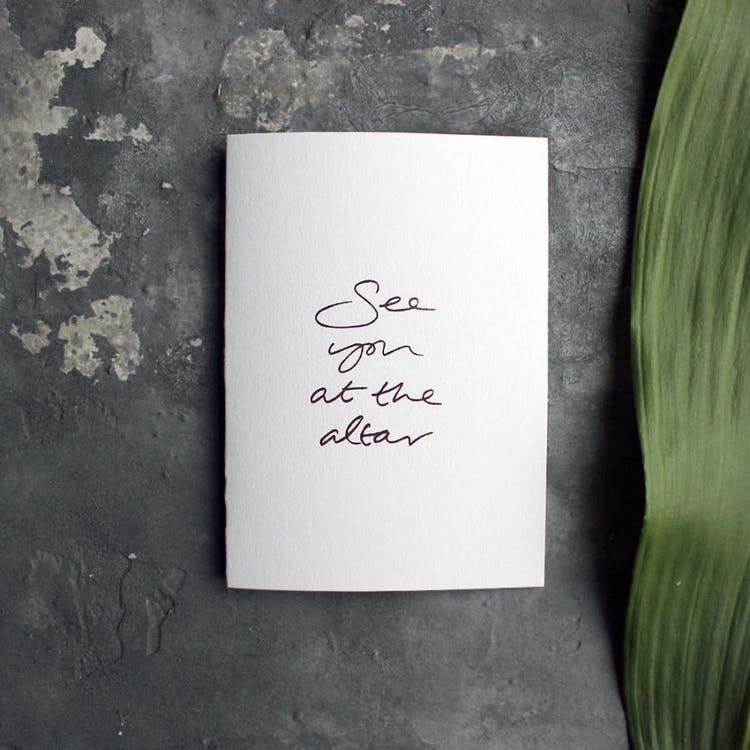 See You At The Altar Card for the Bride or Groom