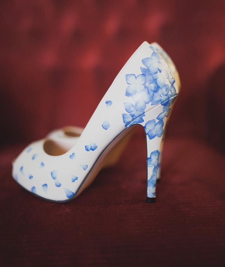 Hand-painted-hydrangea-shoes