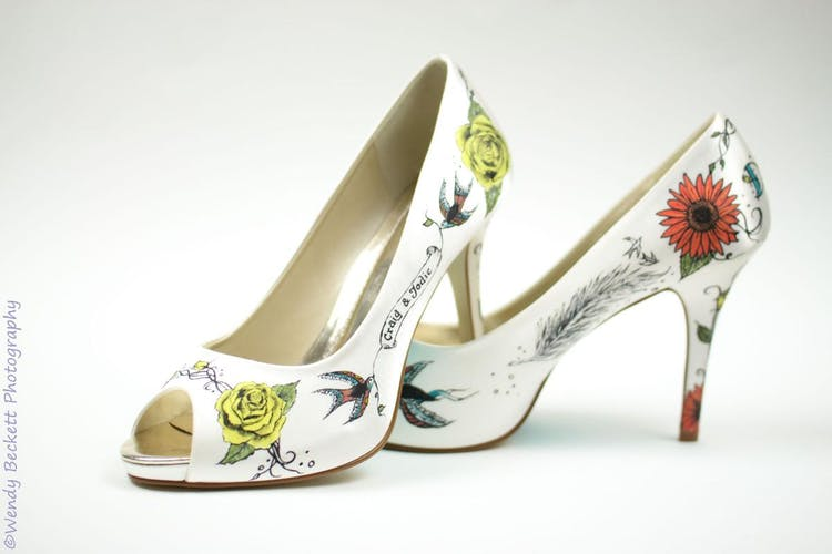 Hand-painted-tattoo-rose-shoes