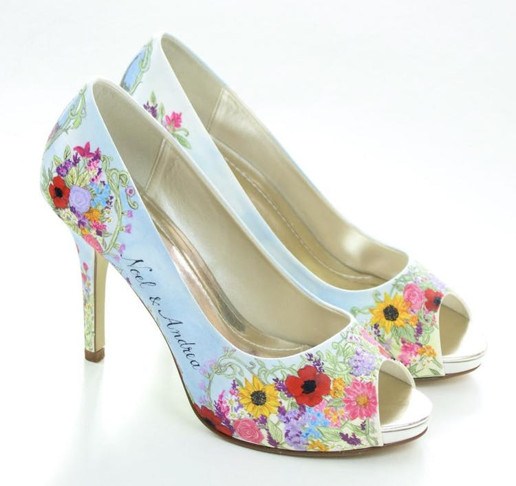 Summer-floral-Hand-painted-shoes