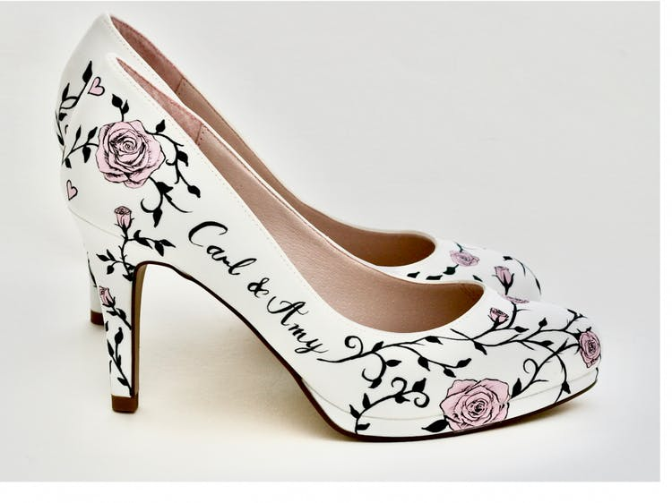Beautiful Moment Hand Painted Shoes