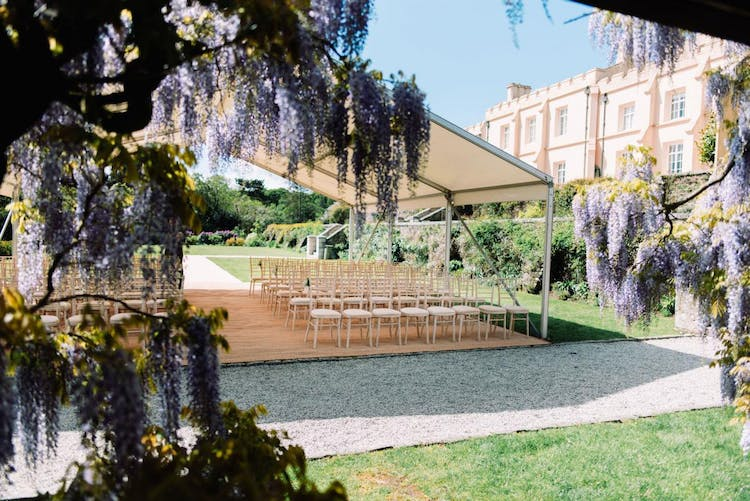 Outdoor ceremony on The Old Tennis Lawn