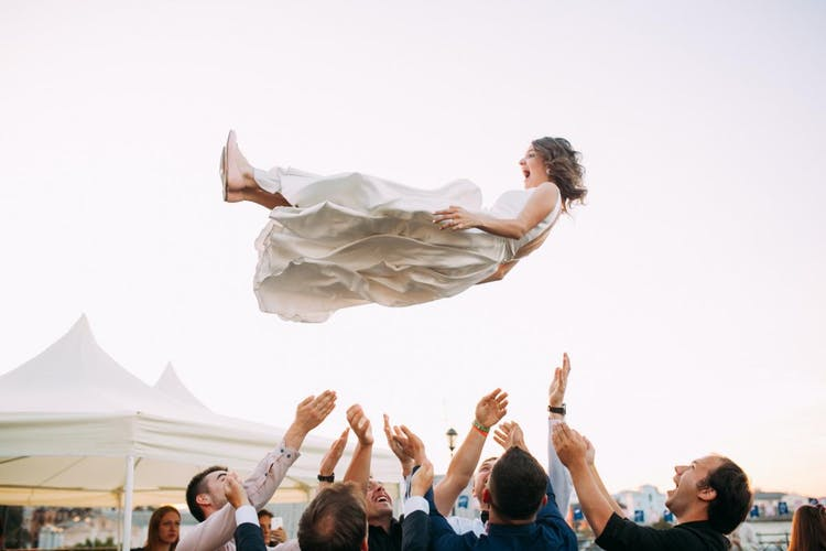 Bride in the air
